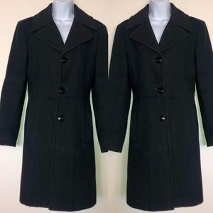 Blk Wool Coat by Kenneth Cole Reaction